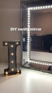 makeup mirror with led lights diy lighted vanity mirror using ikea stave mirror and lumienoodle