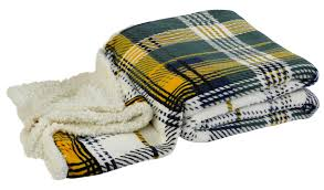 Sherpa Rug Super Soft Sherpa Fleece Checked Throw Over Reversible Bed Blanket