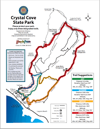 State Park Map by Map Of Hiking Trails Crystal Cove