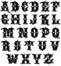 image detail for new kustom font for alternative abcs book by