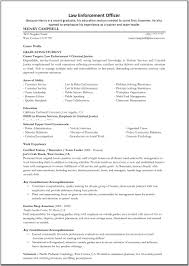 Career Profile Resume Examples Law Enforcement Resume Sample Resume For Your Job Application