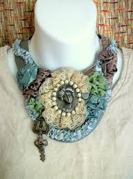 leather bib necklace images 106 best fabric bib necklaces images fabric jpg