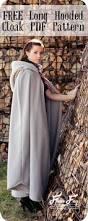 Sewing Patterns Halloween Costumes Long Hooded Cloak Pattern Free Fleece Fun