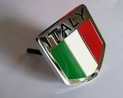 maserati grill emblem 3d alloy italy italian flag emblem car front grill grille badge