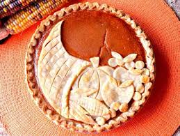 festive cornucopia crusted pumpkin pie for thanksgiving
