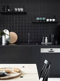 kitchen trend we love black tiles with black grout apartment
