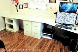 Simple Desks For Home Office How To Build A Simple Large Surface Home Office Desk