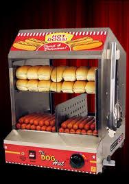 hot dog machine rental popcorn machines paragon the dog hut hotdog steamer merchandiser