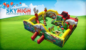 bounce house rentals houston construction bounce house moonwalks houston sky high party rentals