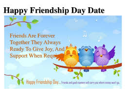 friendship day date celebrated on 7th august 2016