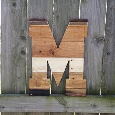 letter m large rustic pallet decor wood letter rustic home