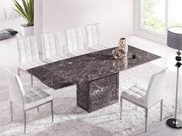 Grey Extendable Dining Table Brown U0026 Grey Extending Dining Table With 6 Chairs Marble Kk