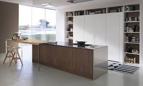 contemporary kitchen wood veneer island system collection