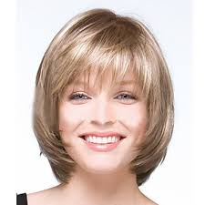 wigs short hairstyles round face european and american new light golden color short wig and white