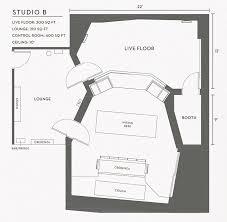 recording studio floor plan revolution recording studio b floorplan