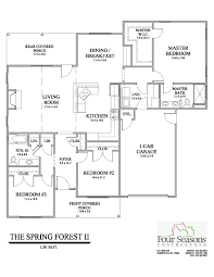 Floor Plan Guide by Four Seasons Contractors Homes For Sale Rocky Mount Nc