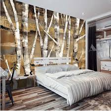 popular birch tree wallpaper mural buy cheap birch tree wallpaper silver birch tree photo wallpaper murals for bedroom landscape wallpapers european retro abstract wall paper 3d