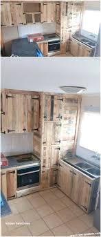 kitchen cabinets from pallet wood kitchen diy pallet design ideas best diy lists pallet