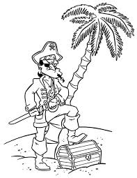 pirate captain treasure chest coloring pages pirate captain