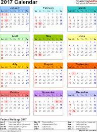2017 calendar pdf 16 free printable calendar templates for pdf