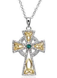 cross stone necklace images Celtic cross pendant embellished with swarovski crystals blarney jpg