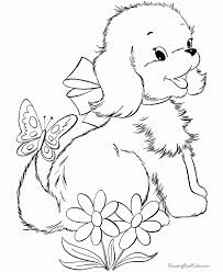 puppy coloring pages kids drawings puppy coloring