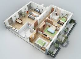 3 bedroom house plans indian style mesmerizing 3d house plans indian style photos best inspiration