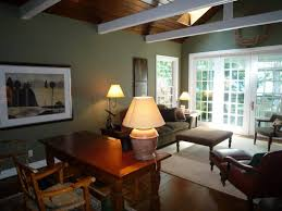 interior white painted wood beams vaulted ceiling design with