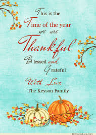 thankful time pumpkin thanksgiving cards blessed grateful 2017