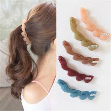 2017 new korean hair banana clip horsetail hair grip