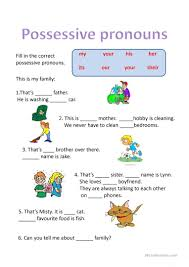 Personal And Possessive Pronouns Worksheet 45 Free Esl Personal Pronouns Powerpoint Presentations Exercises