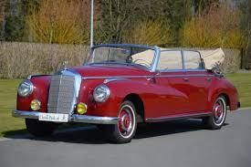classic red mercedes classic park cars mercedes benz 300 cabriolet d adenauer
