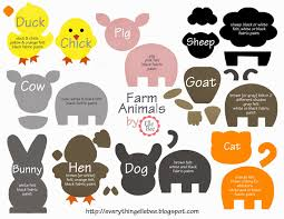 a little bit of everything free printable farm animal
