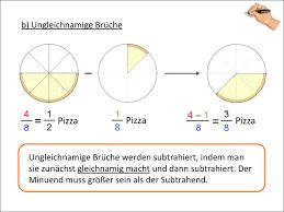 ungleichnamige brüche brüche addition subtraktion multiplikation division