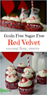 best sugar free red velvet cupcakes grain free low carb keto