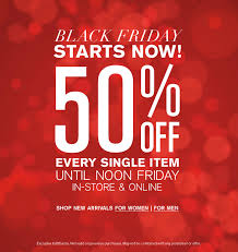 whbm black friday sale the express black friday sale has started every single item is 50
