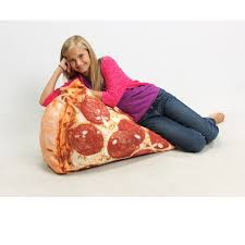 Where Can I Buy Bean Bag Chairs Slice Of Pizza Digital Print Beanbag Chair At Brookstone U2014buy Now
