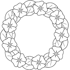 poppy wreath coloring page veteran u0027s day