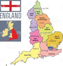 Bristol England Map by Highly Detailed Political Map Of England With Regions And Their