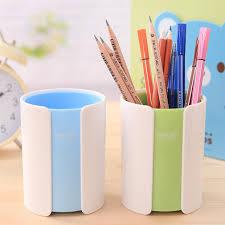 office desk plastic round pen pencil holder container organizer