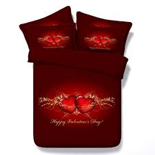valentine u0027s day bedding set red heart love quilt duvet cover bed