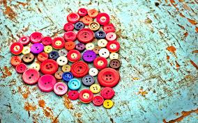 heart shape creative art wallpaper hd made with buttons