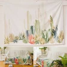 cactus home decor 150 150cm cactus desert plant tapestry wall hanging living room dorm