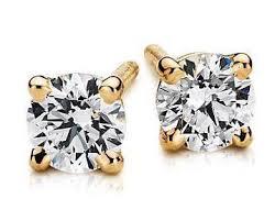 diamond earrings india 20 pointer each diamond earring studs sj e 101 jewelove