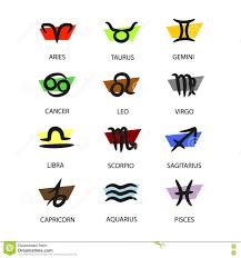 twelve astrological zodiac signs stock illustration image 79038182
