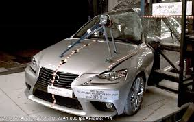 lexus car 2014 2014 lexus is pole crash test by nhtsa crashnet1 youtube