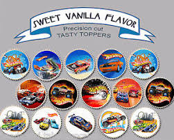 hot wheels cake toppers hotwheels hot wheels car birthday party wafer cupcake cake toppers