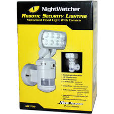 nightwatcher motion tracking motorized led flood light with color camera nightwatcher nightwatcher robotic led security motion tracking light