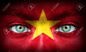 Flag Face Human Face Painted With Flag Of Vietnam Stock Photo Picture And