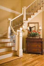 Wrought Iron Stair by Stair Systems White Staircase With Black Wrought Iron Balusters